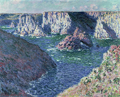 Day Of The Dead Inspired Paintings - Rocks at Belle-Ile, 1886 by Claude Monet