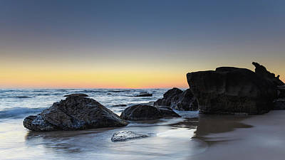 Photograph - Rocks On The Beach At Sunrise by Merrillie Redden