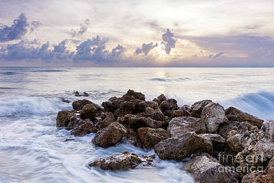 Photograph - Rocky Beach At Sunset by Brian Jannsen