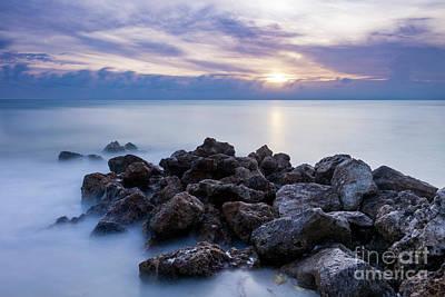 Photograph - Rocky Beach At Sunset II by Brian Jannsen