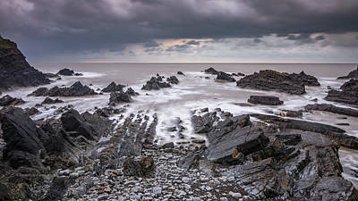 Photograph - Rocky Beach From The Top by Framing Places