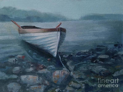 Painting - Rocky Beach Row by Mary Hubley