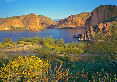 Photograph - Rocky Cliffs And Shores Of Arizona In by Ron thomas