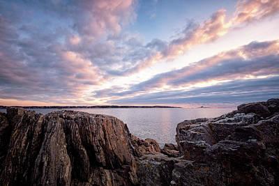 Photograph - Rocky Coast At Daybreak . by Jeff Sinon