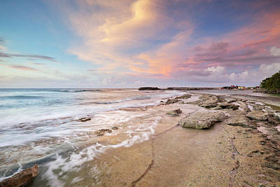 Antilles Photograph - Rocky Coast On The Island Of Curaçao by Sara winter
