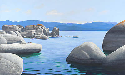 Painting - Rocky Cove On Lake Tahoe by Frank Wilson