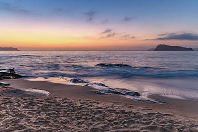 Photograph - Rocky Dawn Beach Scape by Merrillie Redden