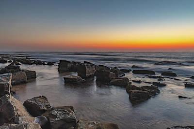 Photograph - Rocky Dawn Coast by Merrillie Redden