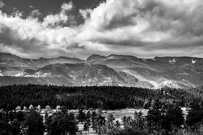 Photograph - Rocky Foothills Bw by James L Bartlett