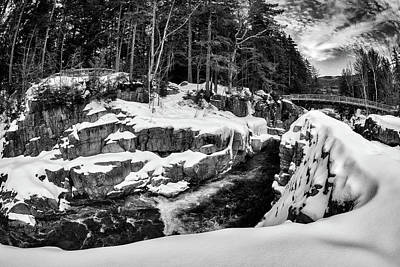 Photograph - Rocky Gorge Foot Bridge N H by Michael Hubley