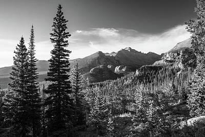 Photograph - Rocky Mountain High - Colorado Landscape Monochrome by Gregory Ballos