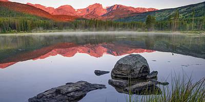 Photograph - Rocky Mountain Landscape Panorama Over Sprague Lake by Gregory Ballos