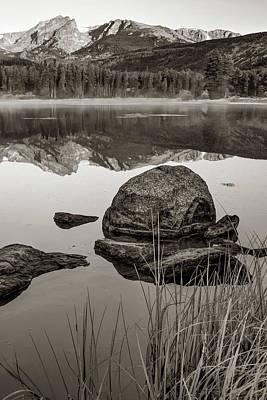 Photograph - Rocky Mountain Morning Landscape - Sepia Edition by Gregory Ballos