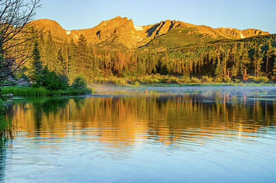 Photograph - Rocky Mountain Reflections - Estes Park Colorado by Gregory Ballos