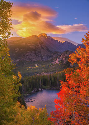Namaste With Pixels Royalty Free Images - Rocky Mountain Sunrise Royalty-Free Image by Darren White