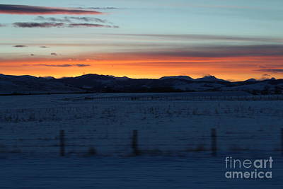 Photograph - Rocky Mountain Sunset by Ann E Robson