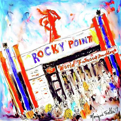Mixed Media - Rocky Point Chowder House by Monique Faella