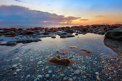 Photograph - Rocky Pools At Sunrise by Debra and Dave Vanderlaan