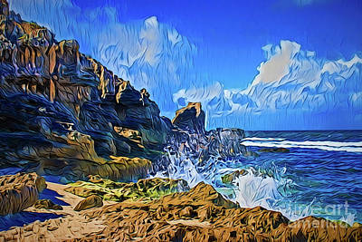 Painting - Rocky Shore A18-36 by Ray Shrewsberry