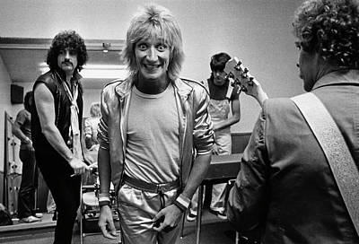 Photograph - Rod Stewart On Tour by George Rose