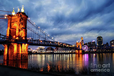 Photograph - Roebling Suspension Bridge by Ed Taylor