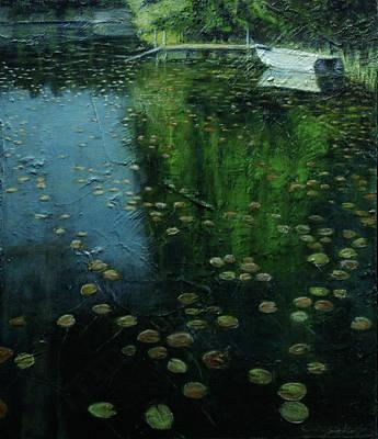 Painting - Roesiger Lake by Evy Olsen Halvorsen