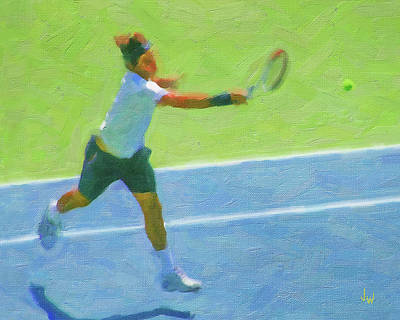 Digital Art - Roger Federer 2 by Joe Winkler