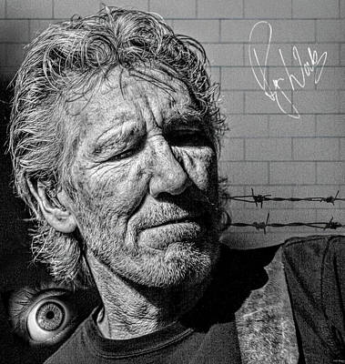 Musicians Royalty Free Images - Roger Waters English Musician Royalty-Free Image by Mal Bray