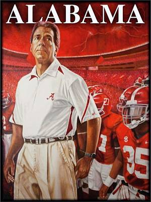 909165b3f Alabama Crimson Tide Painting - Roll Tide by Stanton White