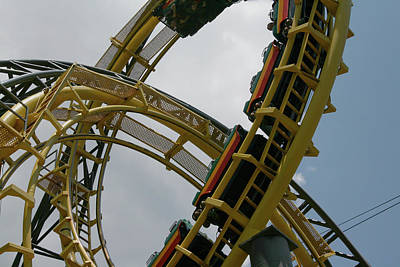 Photograph - Roller Coaster Loops by Karen Harrison