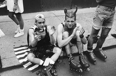 Gay Rights Wall Art - Photograph - Rollerblades On Gay Pride Day by Fred W. Mcdarrah