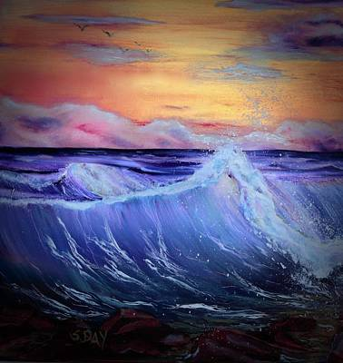 Painting - Rollin On The Rocks by Sandra Day