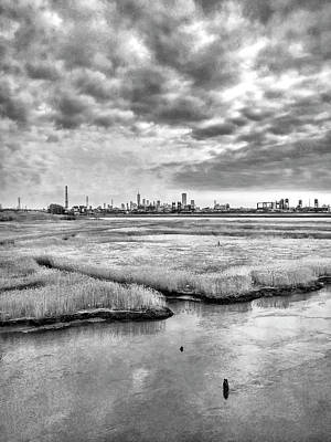 Photograph - Rolling Into Nyc Black And White by Sharon Popek