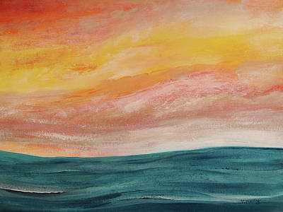 Painting - Rolling Ocean by Valerie Anne Kelly