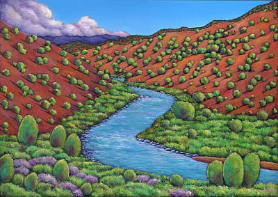 River Painting - Rolling Rio Grande by Johnathan Harris