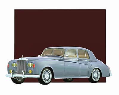 Digital Art - Rolls Royce Silver Cloud IIi 1963 by Jan Keteleer