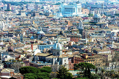 Photograph - Roma Cityscape 8 by John Rizzuto