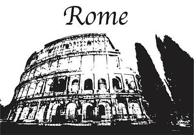 Photograph - Roman Coliseum Silhouette by John McGraw