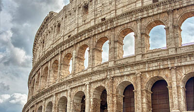 Photograph - Roman Coliseum Up Close by Gary Slawsky