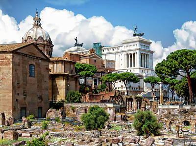 Photograph - Roman Forum by Anthony Dezenzio