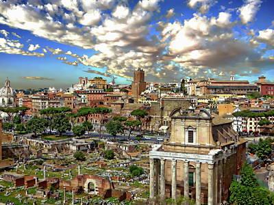 Photograph - Roman Forum Scenic by Anthony Dezenzio