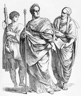 Roman Garb Art Print by Hulton Archive