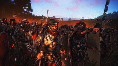 Painting - Roman Legion In Battle - 25 by Andrea Mazzocchetti