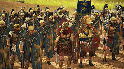 Painting - Roman Legion In Battle - 26 by Andrea Mazzocchetti