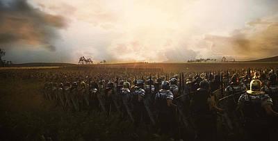 Painting - Roman Legion In Battle - 27 by Andrea Mazzocchetti