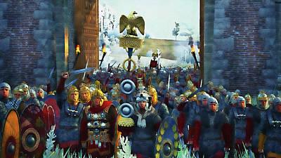 Painting - Roman Legion In Battle - 28 by Andrea Mazzocchetti