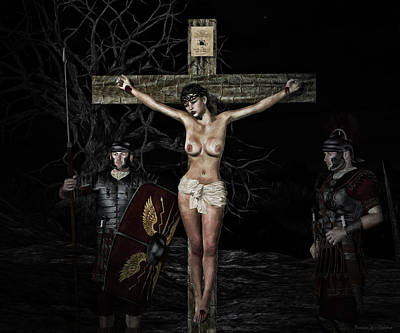 Crucifixion Wall Art - Digital Art - Roman Scene Painting by Ramon Martinez