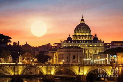 Photograph - Roman Sunset by Scott Kemper