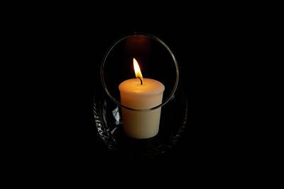 Photograph - Romantic Candle by Jennifer Wick