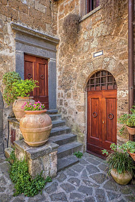 Photograph - Romantic Courtyard Of Tuscany by David Letts
